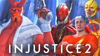 INJUSTICE 2 - ALL Hellboy vs All Speedsters intro Dialogues!