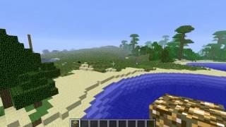 Flat lands, grasslands, ravine Minecraft 1.4.7 Seed