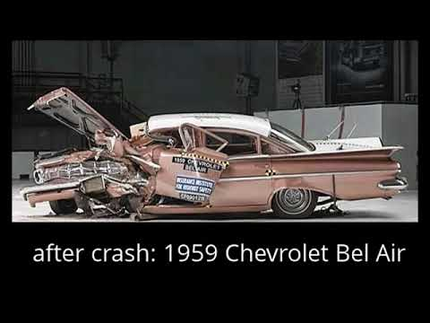 IIHS: 1959 Chevrolet Bel Air versus 2009 Chevrolet Malibu - crash test