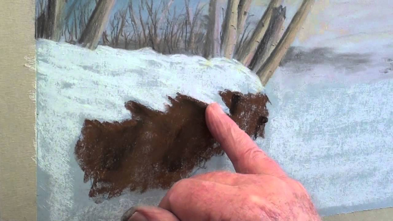 Pastel Snow Scene How to Draw a Snow Scene in