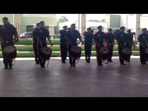 Banda de guerra leones negros de la perla del golfo, ciudad del Carmen, Campeche.