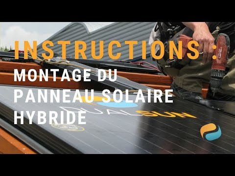 Pose de panneaux solaires hybrides (photovoltaques et thermiques) DualSun