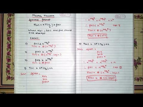 Master Theorem Hindi Daa Example 1 Easy Engineeriing Studies
