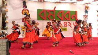 Shruti in pohela boisakh at shilpokola sylhet.