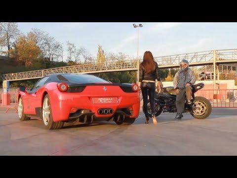 Ferrari vs Kawasaki Drift