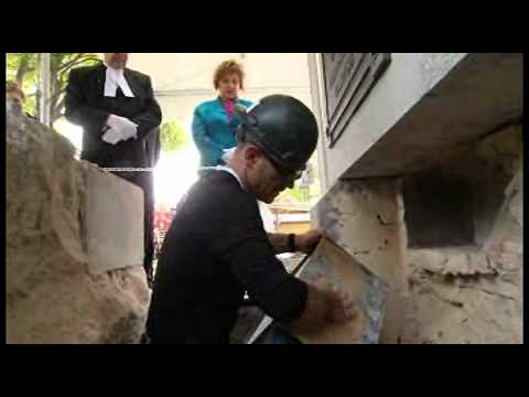 Alberta Legislature Building Time Capsule Unearthing June 18, 2012