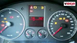 How to reset oil light on VW GOLF 5