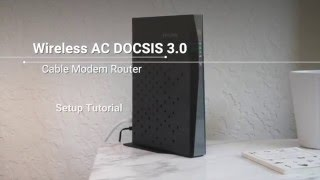 How to Set Up a Wireless AC DOCSIS 3.0 Cable Modem Router