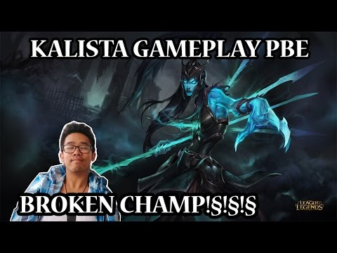 New Champion League of Legends Kalista Gameplay FR Test dun champion cheaté