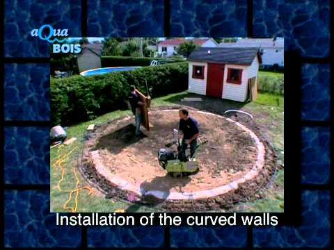 Round above ground or semi inground pool - YouTube