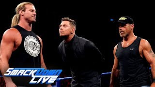 "Dolph Ziggler superkicks Shawn Michaels during ""Miz TV"": SmackDown LIVE, July 23, 2019"