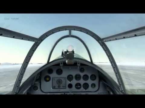 IL-2 БзС, ЛаГГ-3 посадка без шасси