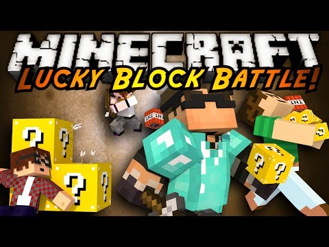Minecraft Modded Mini-Game : LUCKY BLOCK BATTLE!