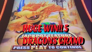HUGE BONUS WIN ON 5 DRAGONS GRAND! PLUS LOCK IT LINK BONUS