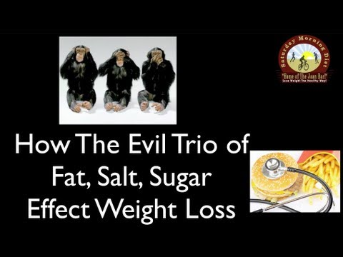 How The Evil Trio of Fat, Salt, Sugar Effect Weight Loss