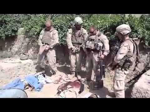 US marines urinate on Taliban corpses