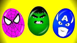 Learn colors with superheroes eggs, surprise eggs for kids