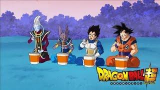 Dragon Ball Super - Whis, Beerus, Vegeta, and Goku eat Ramen