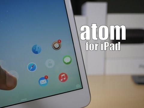 Cydia Tweak: atom (iOS 8) for iPad - The launcher comes to iPad