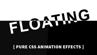 Floating Text Animation Effects | Html CSS Animation