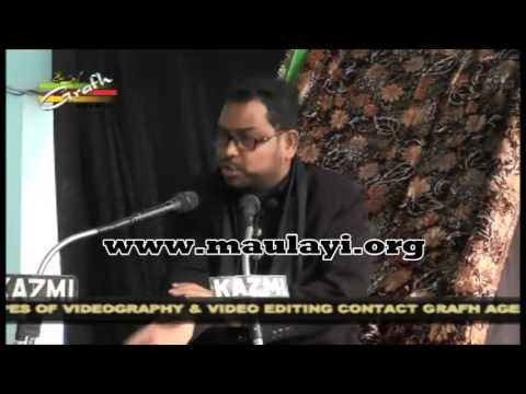 Maulana Meesam Zaidi  7 Muharram 2014-15 Majlis, Lucknow video