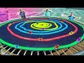 DIY Giant Magic Tracks Swirl Across Trampoline!!