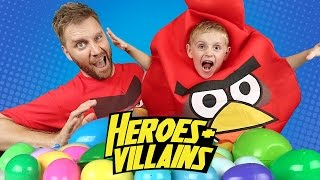 Angry Birds Movie Heroes & Villains Surprise Eggs Toys Challenge ft. Finding Dory by KidCity