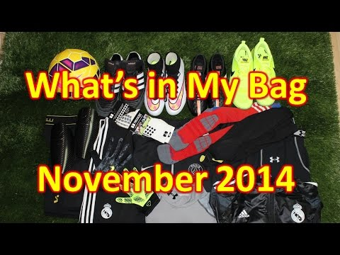 What's In My Soccer Bag - November 2014