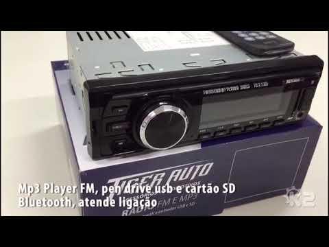 Rádio Automotivo mp3 Player Bluetooth Tiger Auto