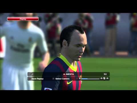 Pro Evolution Soccer 2014 (PES 2014) - Barcelona and Real Madrid starting 11 player faces
