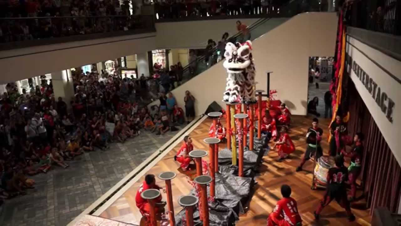 Lion Dancing Pole Lion Dance Pole Jumping at Ala