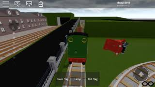 Thomas and Friends ROBLOX Peter Sam Rheneas Skarloey Crash!!!!!