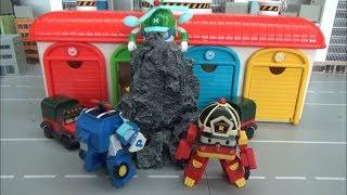Robocar Poli Remove the rock!! toys play 로보카폴리 바위를 치워요! 장난감 놀이