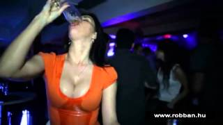 Sexy girl drinking beer