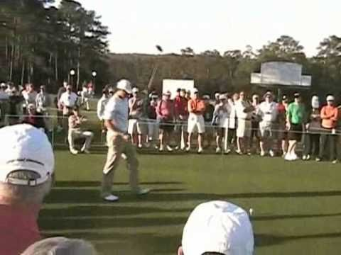 Masters 2011 Practice Round Pt 1 of 3 - Rickie (Ricky) Fowler, Dustin Johnson, Adam Scott