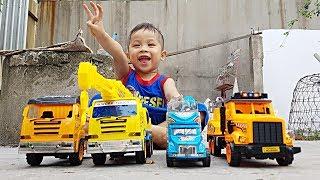 Săn Và Học Tên Các Loại Xe - Truck Surprise Car Opening ❤ ChiChi TV Siêu Nhân ❤ ToysReview