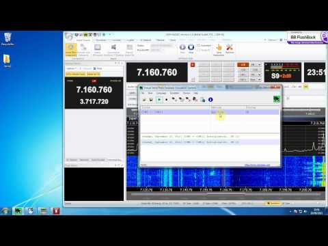SDR-RADIO - Ham Radio Deluxe, FT-2000, IF-2000, SDR-IQ all running in synchronisation