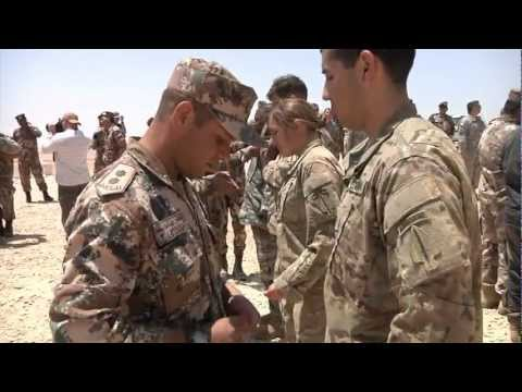 U.S. and Jordanian Soldiers participate in