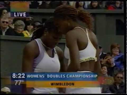 2000 Wimbledon final - Serena/Venus Williams doubles (last game)