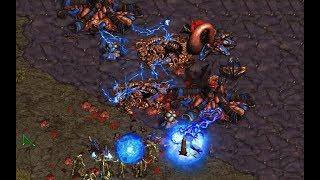 Dimaga (Z) v G5 (P) on Destination 1.1 - StarCraft  - Brood War REMASTERED