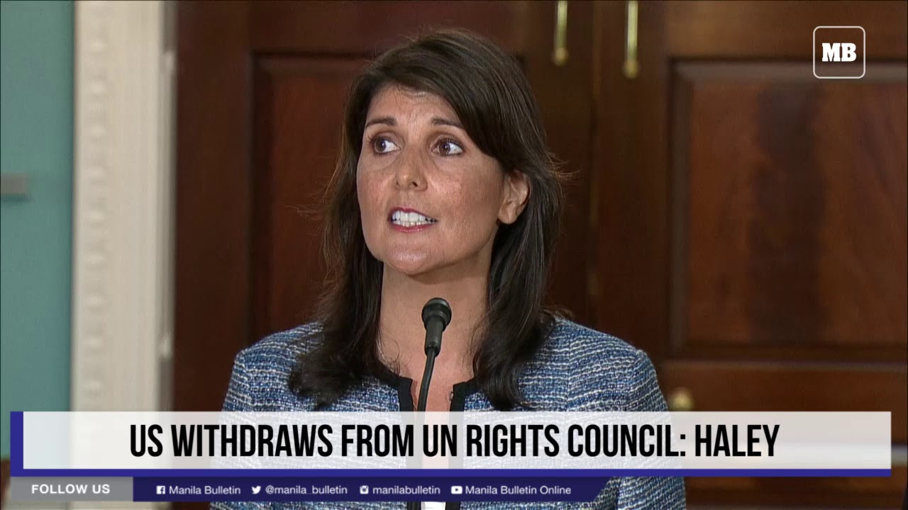 US withdraws from 'cesspool' UN rights body
