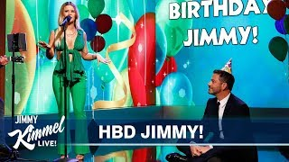 Maren Morris Sings Jimmy Kimmel a Birthday Song