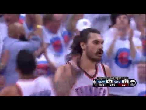 Steven Adams Sick PASS   Warriors vs Thunder   NBA PLAYOFFS   5.24.16