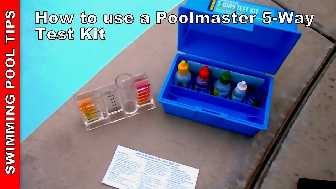Pool test kit 5 way poolmaster 22260 5 way test kit - Hth swimming pool test kit instructions ...