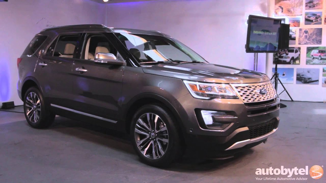Luxury First Look 2016 Ford Explorer Review  YouTube