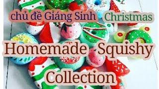 Bánh donut, kem cây❤ Homemade Squishy Collection 🌻 Merry Christmas 3/12/18 [Shop Thảo Tâm handmade]