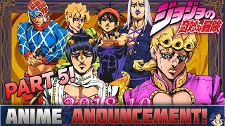 JoJo's Bizarre Adventure Part 5 Anime FINALLY Announced!! Vento Aureo Announcement!!