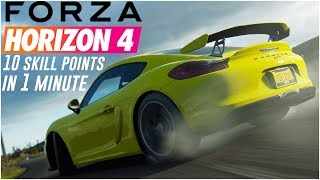 HOW TO EARN 10 SKILL POINTS PER MINUTE!! - Forza Horizon 4 Tips & Tricks