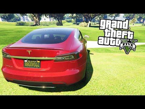 GTA 5 MOD : Tesla Model S (ТОП Модель)