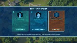Jurassic World Evolution Choose Science Division or Entertainment Division or Security Division